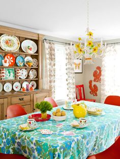 """Colorful and Cheerful, not """"my"""" favorite color combo, but can be modified.  Not sure about the plastic chairs."""