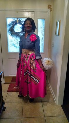 Sew Virtuous Designs Re-Fashioned Skirt from Mom's Mu-mu Waist Skirt, High Waisted Skirt, African Dress, Dress Fashion, Sewing, Skirts, High Waist Skirt, Dressmaking, Couture