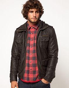 Enlarge Superdry Brad Leather Jacket