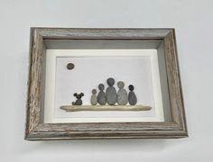 Excited to share this item from my shop: Pebble Art Family with dog - 5 by 7 - framed - family of 5 pebble art Pebble Stone, Stone Art, Pebble Pictures, Art Pictures, Driftwood Wedding, Pebble Art Family, Unique Birthday Gifts, Couple Art, Gifts For Family