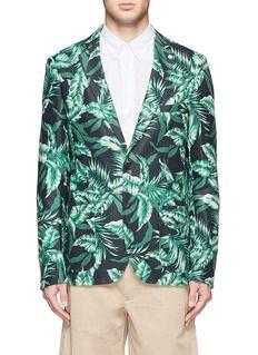 SCOTCH & SODATextured floral print blazer
