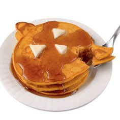 🎃 Pumpkin Pancakes...going to do this with regular pancakes...