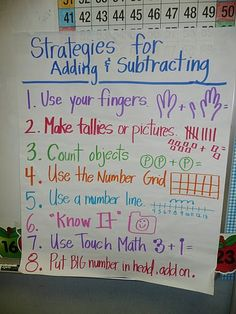 First Grade Rocks Common Core Addition Subtraction Anchor Chart