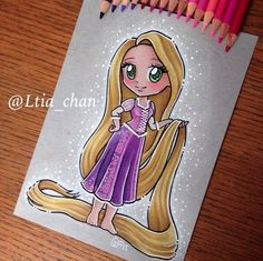 Rapunzel (Chibis by Ltia_Chan @Instagram) #Tangled