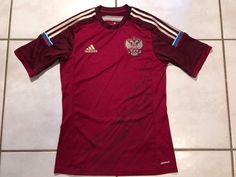 ADIDAS Russia National Team 2014 Soccer Jersey Men's Small  | eBay