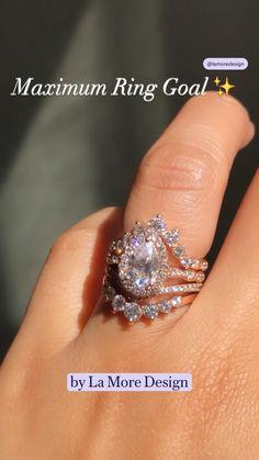 Rose Gold Engagement Ring, Diamond Wedding Bands, Cubic Zirconia Wedding Rings, Wedding Ring Designs, Dream Ring, Diamond Are A Girls Best Friend, Boujee Lifestyle, Gold Rings, Wedding Stuff