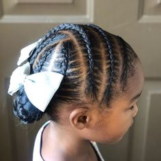 When your cheer bows still look good months after competition season has ended, and become everyday accessories 😍💙💎 has… Toddler Braided Hairstyles, Toddler Braids, Lil Girl Hairstyles, Black Kids Hairstyles, Natural Hairstyles For Kids, Princess Hairstyles, Braids For Kids, Girls Braids, Curly Hair Styles