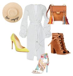 """""""Pinstripes & Bright Colors!!!"""" by la-harrell-styling-co on Polyvore featuring Johanna Ortiz, Christian Louboutin, Gianvito Rossi and Chloé"""
