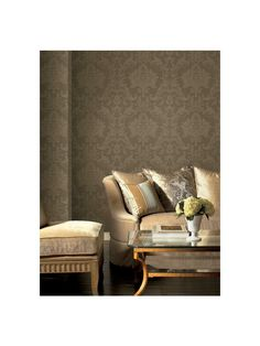 Middlesbury Damask Wallpaper from the American Legacy Colelction by York.