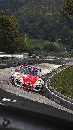 Porsche at Nurburgring Nordschleife