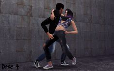 Sim_plyreality — Breakdancing Couple Pose Pack - 6 Couple Poses I'm.
