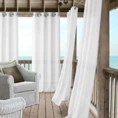 Patio Curtains, Sheer Curtains, Window Curtains, Curtain Panels, Window Panels, Curtains Living, Fabric Panels, Patio Store, Indoor Outdoor