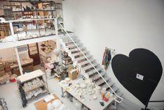 Studio Visit: Lilith Rockett — Portland Supply Co. Ceramic Studio, Pottery Studio, Work Spaces, Studio Ideas, Pots, Studios, Ceramics, Atelier, Ceramica