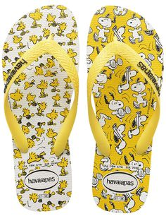 Havaianas Snoopy Flip flops - White/Citrus Yellow