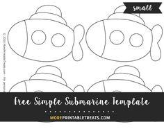Free Simple Submarine Template - Small
