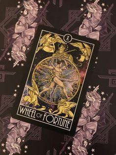 Featured Card of the Day - Wheel of Fortune - Divine Diversity Tarot by Joe Phillips Tarot By Cecelia, Tarot Card Tattoo, Wheel Of Fortune, Oracle Cards, Tarot Decks, Beautiful Tattoos, Tarot Cards, Cool Artwork, Diversity