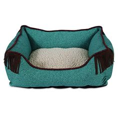 MuttNation Fueled by Miranda Lambert Lambswool Corner Fringe Printed Lounger Dog Bed Denim Print >>> You can find more details by visiting the image link. (Note:Amazon affiliate link)