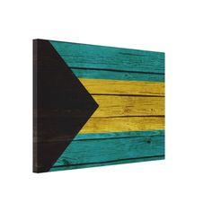 Bahamas Old Wood Canvas Canvas Print