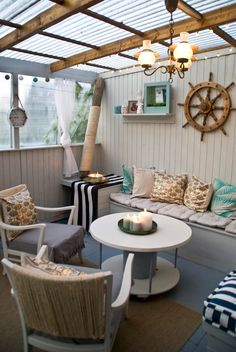 Pudel-design: The Patio reveal! Beach Cottage Decor, Coastal Decor, Backyard Beach, Backyard Makeover, Beach Cottages, My Dream Home, New Homes, Interior Design, Outdoor Decor