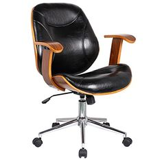 Porthos Home Modern Faux Leather Conference Meeting Office Chair Polished Obsidian -- You can get additional details at the image link.