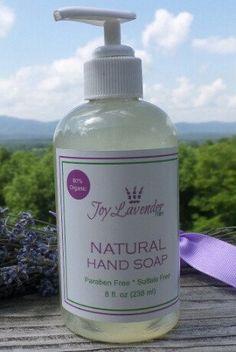 Natural Lavender Hand Soap Lavender Farm Hand Soap Lavender Liquid Soap