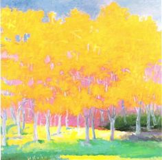 I love his yellows.  The Designer's Muse: Wolf Kahn; master of color and light, pastels