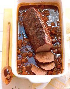 Rinderbraten mit Möhren und Barolo - Rezepte