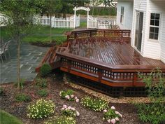 Deck to patio