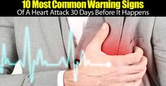There are 10 main common signs of a heart attack before you experience the life threatening issue. The ten most common symptoms are: Shortness of breath Dizziness and sweating Fatigue Swelling Chest, back, shoulder, and neck pain Unexplained weakness Rapid or irregular pulse Digestion issues...