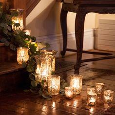 Wedding Lighting Ideas: Mecury vases with candles @weddingchicks