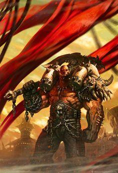 Warchief Garrosh Hellscream by Wei Wang (World of Warcraft) Dota Warcraft, Warcraft Art, World Of Warcraft, Fantasy World, Dark Fantasy, Fantasy Art, Fantasy Races, Final Fantasy, Warcraft Characters