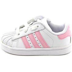 Adidas Superstar 2 Lnf Toddler Girls Size 6 White Sneakers Shoes... ❤ liked on Polyvore featuring kids