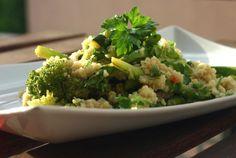 grüner couscous mit spargel vegan