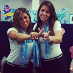 Lilly inspired recruitment outfits.  Lilly scarf, white top, black shorts, and a gold belt. Iota Pi! love them <3 <3