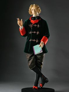Full length color image of Oscar Wilde aka. Oscar Fingal O'Flahertie Wills Wilde, by George Stuart.