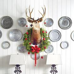 54 Festive Christmas Wreaths: Dapper Deer Wreath