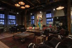 Captivating industrial style loft apartment in Moscow