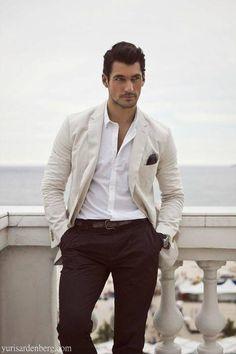 Stylish Men: David Gandy for D … David Gandy, Sharp Dressed Man, Well Dressed Men, Men With Street Style, Mens Attire, Gentleman Style, Mode Outfits, Stylish Men, Dapper
