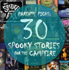What story will you be reading around the campfire this summer? See our #RaiseaReader blog for 30 spooky titles parents love to read aloud under the stars. #kidsbooks