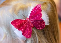 Red Glittery butterfly hair clip by Simply Sae's