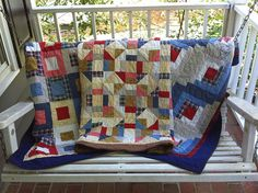 Three Classic Memory Quilts by Patchwork Memories, via Flickr