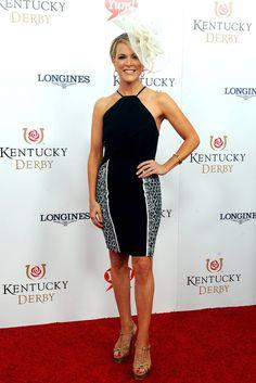 Megyn Kelly hit the Kentucky Derby in Saint Laurent Tribute sandals.