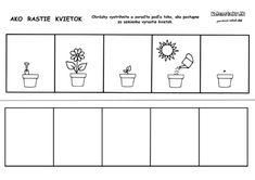 Pracovný list - od semienka k rastlinke Educational Activities, Preschool, Jar, Science, Spring, Google, Image, Tactile Activities, Messages