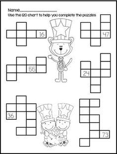120 charts and puzzles...lots of activities! $