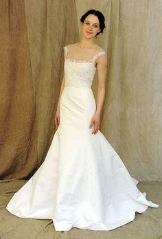lela-rose-spring-2012-illusion-neckline-wedding-dress.jpg 460×680 pixels