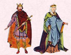 8th-9th century King and Queen, An Essay on Medieval Clothing | A Journey Through #Medieval Life octavia.net