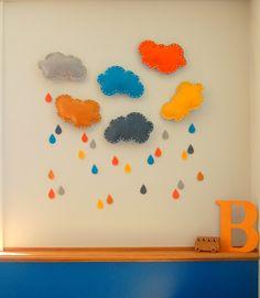 oh love lovely: Project 52 : 3 DIY felt cloud decor