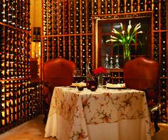 The Wine Cellar Restaurant at the Secrets Capri Riviera Cancun.