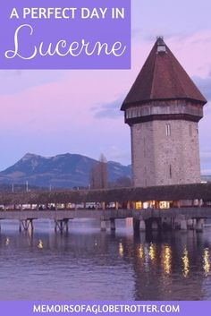 This city in Switzerland is surrounded by snowcapped mountains. It is famous for its covered bridge, swans and Lion Monument. Read this guide to discover how to spend one day in Lucerne. Travel in Europe. Europe Destinations, Europe Travel Tips, Travel Abroad, European Travel, Travel Guides, Euro Travel, Overseas Travel, Traveling Europe, Traveling Tips