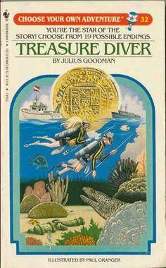 """""""Treasure Diver""""  ***  Julius Goodman  (1984)"""